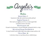 Angela's Italian Fine Dining: Menu Design