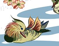 Calligraphic Ducks
