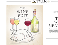 M&S Christmas wine guide - Illustrations
