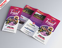 Travel Packages Promotion Tri Fold Brochure PSD