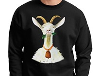 T-shirt & Hoody with GOAT