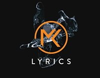 Logo reveal animation for MK Lyrics