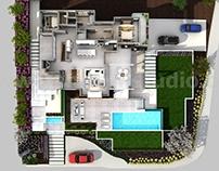 3D Conceptual Home Floor Plan