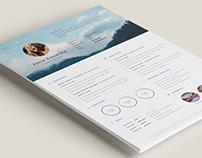 Free Minimalistic Resume/CV Template In Illustrator