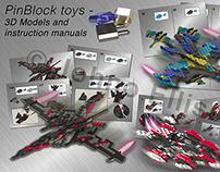 Pinblock Toys - 3D models and instruction manuals