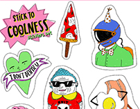 STICK TO COOLNESS-stickers set