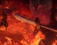 Issunboshi vs Oni