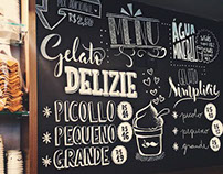Chalklettering San Paolo Gelateria.