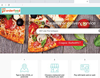 Order-Food Food Delivering App-Web Design
