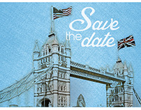 Save the date mailer, client project