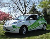 Nissan Leaf Electric Car Wrap