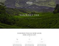 NEWBY, elite tea, landing page, web design