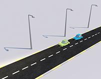3D minimalist car design