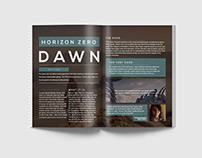 HZN 3 Magazine Redesign