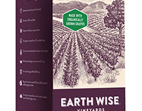 Earth Wise Vineyards Label illustrated by Steven Noble