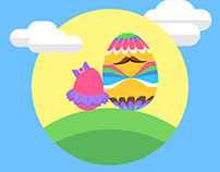 Happy Easter Illustration Experiment