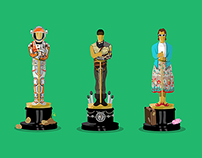 Oscars Best Picture Illustrations 2016