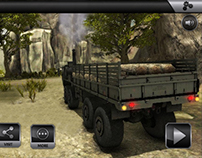 Transport Truck game HUD