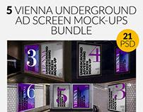 Vienna Underground Ad Screen Mock-Ups Bundle