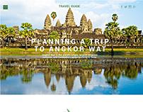Angkor Wat Cambodia Travel Guide Web Design UI / UX