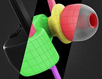 MX10 Bluetooth Earphones CGI
