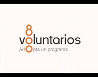 800 voluntarios
