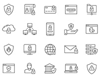 20 Data Protection Vector Icons