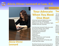 Alicia Oliver Leonard Attorney Website