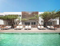 Architectural rendering of apartments in El Gouna