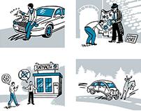 Caricatures for partarium.ru