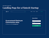 Landing Page for a Fintech Startup