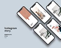 Instagram story | Minimalistic Templates