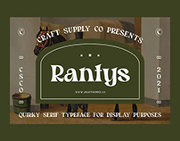 Rantys – Quirky Serif (Free Download)