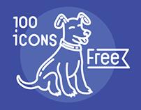 100 free beautiful icons