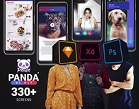 Panda Mobile UI Kit (330 screen) freebies included