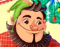 Digital Christmas Card (The selfish giant)