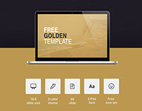 GOLDEN // Free PowerPoint presentation template