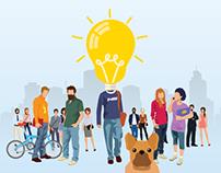 BNP Paribas infographic : creating a startup