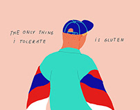 "Poster ""The only thing I tolerate is gluten"""