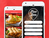 Free Food-Adda App mobile PSD