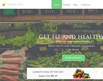 Organic Store Landing page