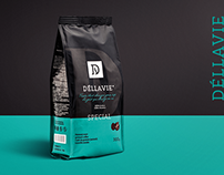 Dellavie — coffee packaging and landing page