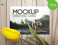 Free 3 PSD Mockups Greeting Card