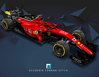 2018 Scuderia Ferrari F1 Concept Liveries.