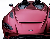 2020 Aston Martin V12 Speedster Wine Red