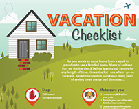 Vacation Checklist infographic