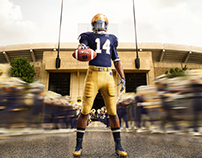 Notre Dame Uniform Launch Photography