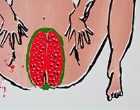 """Série """"Mulheres"""" - Serigrafia (Budapeste, Hungria)"""