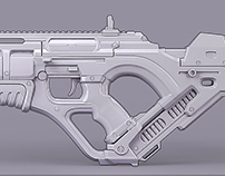 Futuristic Rifle [Render]