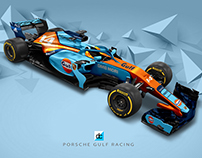 2019 Porsche Gulf Racing Team Concept (Late Braking)